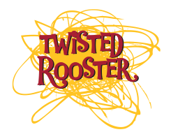 logo for twisted rooster